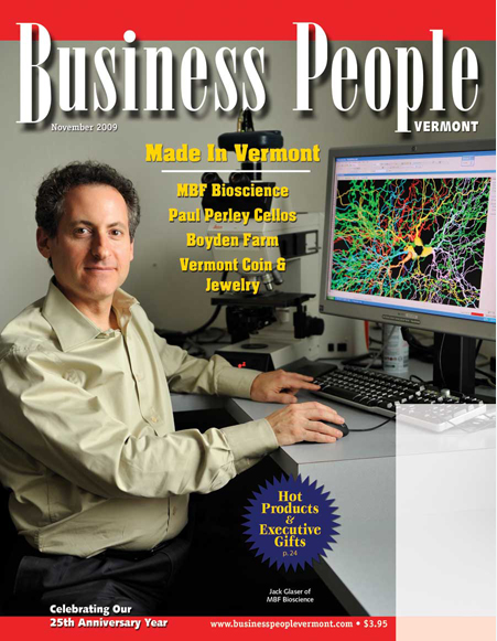 Business People Vermont - MBF Bioscience Cover Story
