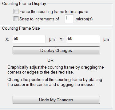 OF - Step 6: Define the Counting Frame Size