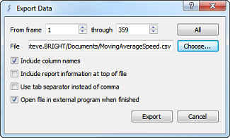 Export data with Copy or Export